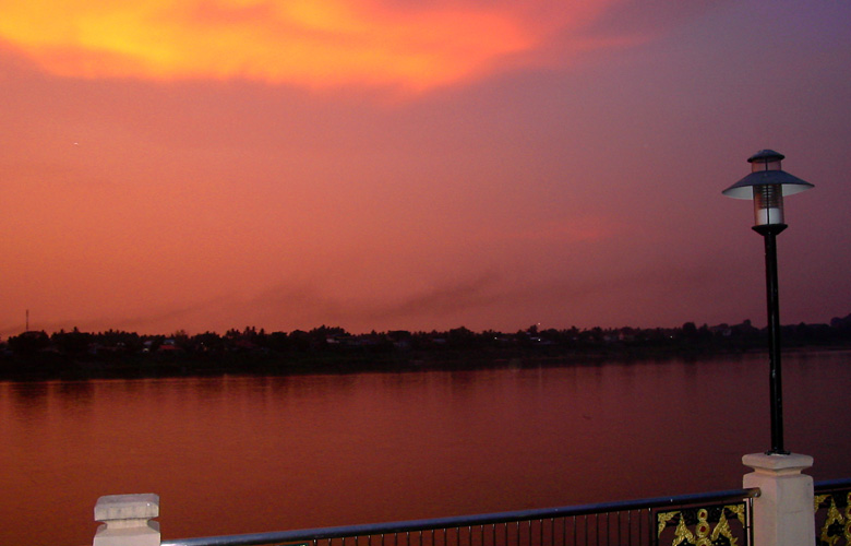Sonnenuntergang in Nong Khai 2011